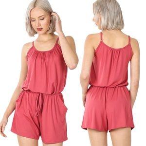 NWT Pink spaghetti strap jumper